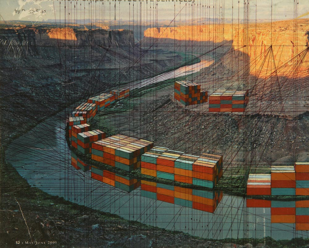Grand-Canyon-8-x-10-inches-collage-on-panel-2010-Iverson