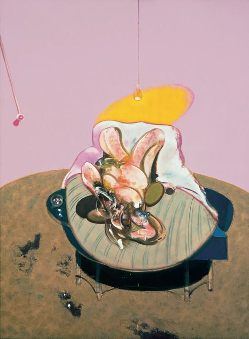 francis bacon - lying figure